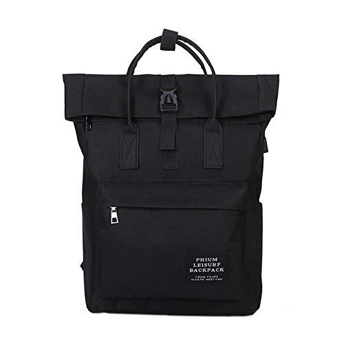 Petay - Mochila para ordenador portátil de 15,6 pulgadas, unisex, gran capacidad, mochila de viaje para colegios de negocios, Negro (Negro) - 5JQTSFWJWU