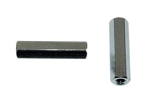 SN-TEC Distanzmutter/Langmutter/Distanzbolzen 6-kant M3 x 15mm verzinkt (10 Stück)