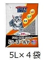 【セット販売】 新東北化学工業 FORCAT ゴールド 5リットル×4袋