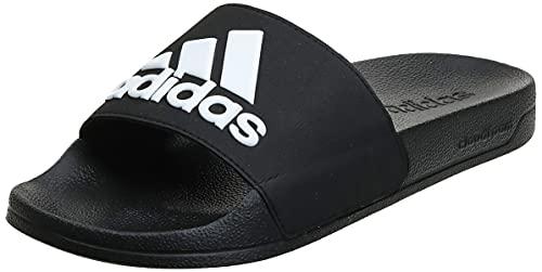 adidas Adilette Shower Stripes, Chanclas Hombre, Core Black Footwear White 01, 42 EU