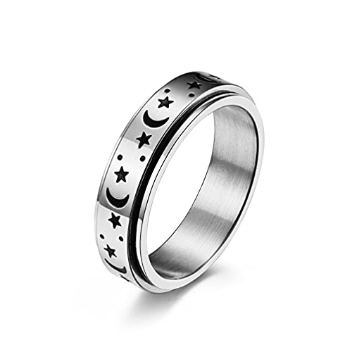 Mlide Neutral 8mm Celtic Luminous Ring Glowing Titanium Fluorescent Ring Ornaments Gift for Men Women Ring