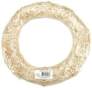 Floracraft Bulk Buy Straw Wreath 14 inch Shrinkwrapped SW14C (12-Pack)