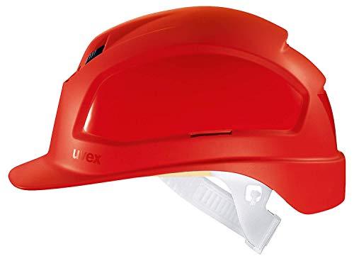 Uvex Pheos B Belüfteter Bauhelm - Langer Schirm - Rot