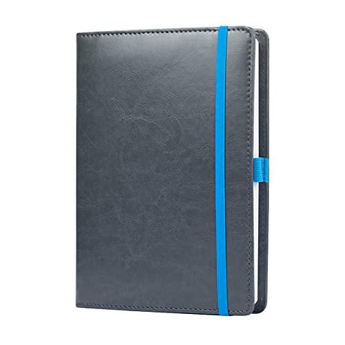 Scribbles That Matter, A5-Hüllen für Reisenhefte, Bullet Bujo Journal – Ihr Tagebuch nach Ihrem Weg – Kartenfächer, Gummiband, Taschen – Anthrazit