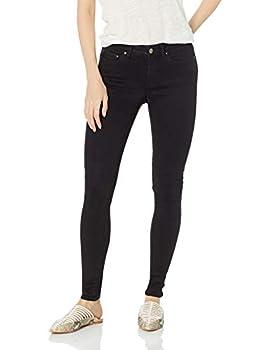 Amazon Brand - Daily Ritual Women s Mid-Rise Skinny Jean Black 28  6  Short