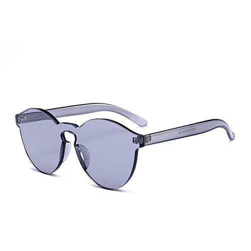 ZZZXX Gafas De Sol UnisexGafas Transparentes Sin Montura Color Caramelo Correr, Andar En Bicicleta,Protección Uv400, Varios Colores Disponibles,Con Caja De Regalo Y Paño Para Vasos