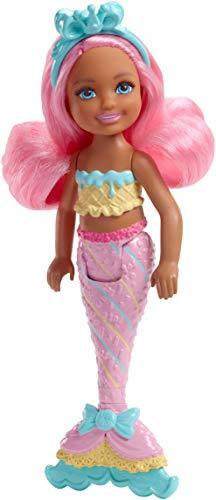 Mattel Barbie FKN04 Dreamtopia Mini-Meerjungfrau: Bonbon-Chelsea