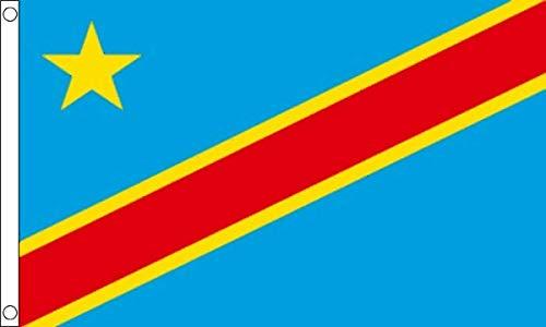 Legs Galore Democratische Republiek Congo Zaïre 5ft x 3ft Vlag