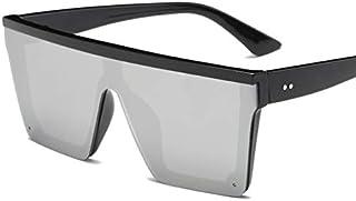 ERIOG - Gafas de Sol Gafas De Sol Planas Masculinas Hombres Sombras Cuadradas Negras Uv400 Gradient Gafas De Sol para Hombres Cool One Piece Designer