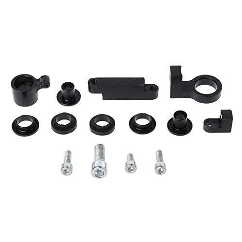 BUIDI Universal Motorrad Stenthalterung für CNC-Bremskupplung Hauptbremszylinder Flüssigkeitsbehälter 1x Montagehalterung Schwarz