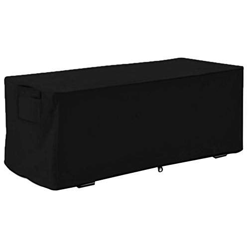 Bag Mate Deck Box Cover,Waterproof Sturdy Covers Outdoor Deck Box Protective Cover Storage Benches Cover Best Fit for Deck Boxes Waterproof Deck Box Cover Protects from Rain Wind and Snow(Black)
