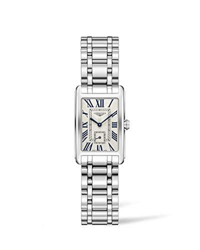 Longines Damen Analog Klassisch Quarz Uhr mit Edelstahl Armband L52554716