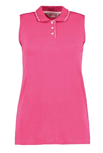 Gamegear Polo sans manches Mesdames 'ProActive, 4 couleurs Large Rose - Rouge framboise/blanc