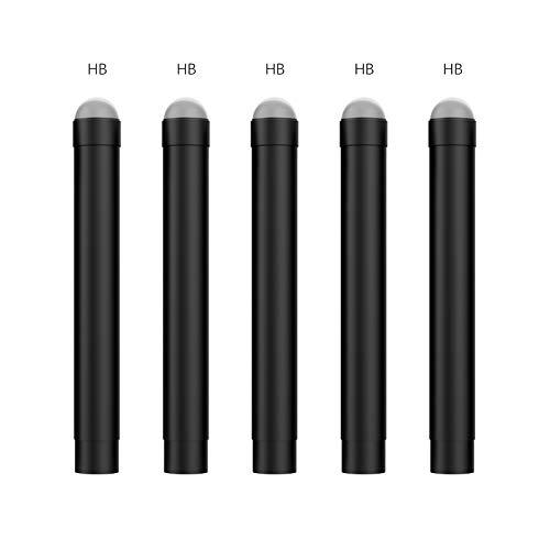 MoKo Punta de Pen para Surface Pen, Compatible con Surface Pro 2017 Pen(Model 1776)/Surface Pro 4 Pen, 5 PZS HB Puntas de Lápiz Reemplazable de Goma Flexible para Stylus Pen
