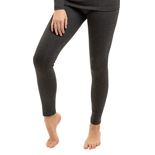 Gomati Damen Thermo Hose - warme Funktions Unterhose lang - Anthrazit L