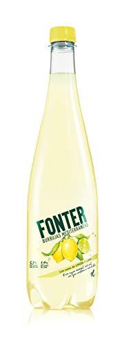 Fonter, Agua Mineral con gas sabor limón - Botella 1L