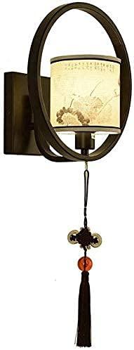 FXLYMR Lámpara de Pared Lámpara de Noche Moderna, Plancha + Diseño de Tela, Estilo Antiguo, Sala de Estar Ligera, Corredor Y Otros Decorativos, Anti-Rust Rust