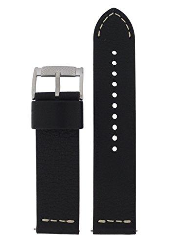 Fossil Uhrband Wechselarmband LB-FS4928 Original Ersatzband FS 4928 Uhrenarmband Leder 24 mm Schwarz