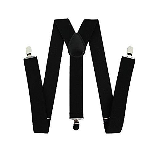 ELifeStore Bretelles réglables avec pinces résistantes Unisexe Noir Largeur 35 mm