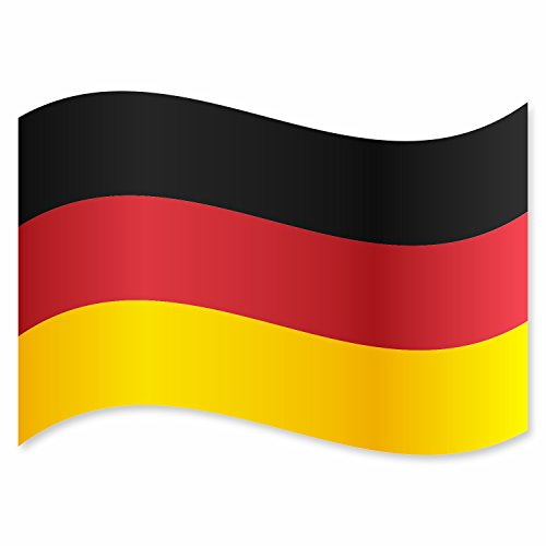 easydruck24de 3er Set Aufkleber Deutschland-Flagge I kfz_282 I Auto-Sticker Fan-Artikel Fahne schwarz rot Gold I außenklebend wetterfest