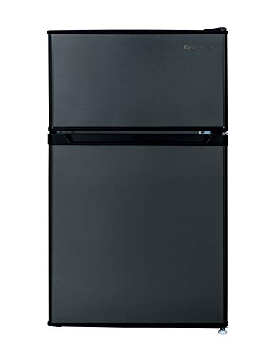 Daewoo RTO32ERSLE 3.2 Cu. Ft. Compact Dark Silver Refrigerator, Cu.Ft 2 Door
