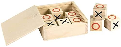 Lote 8 Juegos 3 en Raya con Caja en Madera Natural. Regalos para cumpleaños de niños, Detalles Infantiles para colegios, guarderías, AMPAS