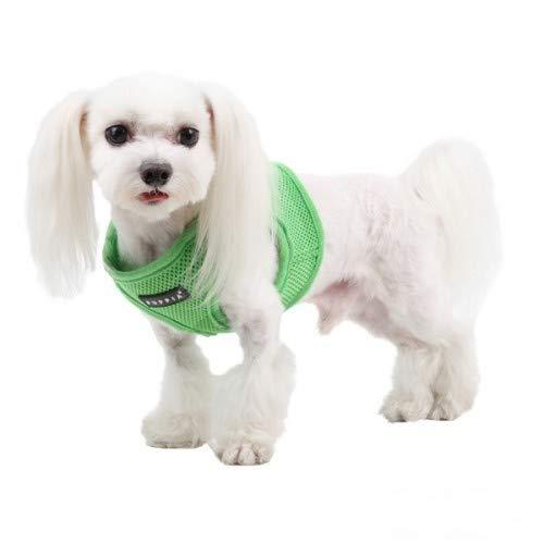 Puppia Soft Vest Pettorina Modello B per Cani (XL) (Verde)