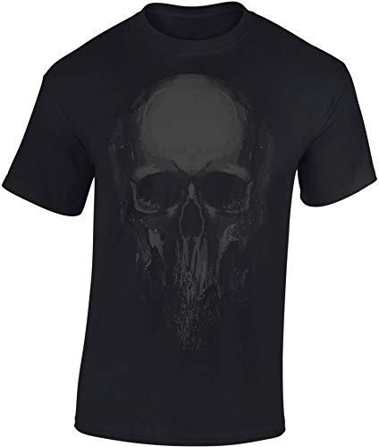 Camiseta: Cráneo - Skull - Halloween T-Shirt - Biker Regalo Hombre-s y Mujer-es - Noche Brujas - Calavera - Horror - Gamer - Película Terror Miedo - Fantasy - Apocalipsis - Zombi-e (M)