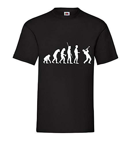 Evolution Trompeter Männer T-Shirt Schwarz 3XL - shirt84.de
