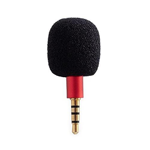 ZOUD Micrófono pequeño portátil Mini Plug in Mic Megáfono 3.5mm Audio Jack para Smartphone Omnidireccional Grabadora vocal micrófono pequeño portátil para bodas
