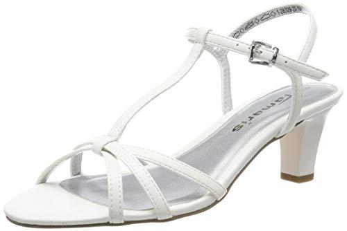 Tamaris Damen 1-1-28329-22 T-Spangen Sandalen, Weiß (White Matt 108), 40 EU
