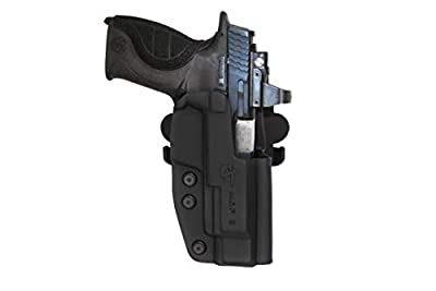 "Comp-Tac International Holster - S&W M&p 5"" 9mm/.40/.45 Pro/Core Right - Black (Belt, Paddle, Drop Offset)"