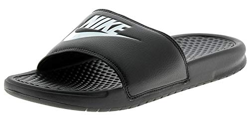 NIKE Benassi Jdi, Zapatos de playa y piscina Hombre, Negro (Black/White 090), 42.5 EU