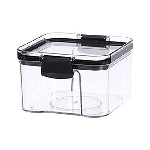 CAIER Caja de almacenamiento de cocina de grano para el hogar Caja de plástico de grado alimenticio Caja de aperitivos Tuerca Tanque de almacenamiento en seco 460 ML