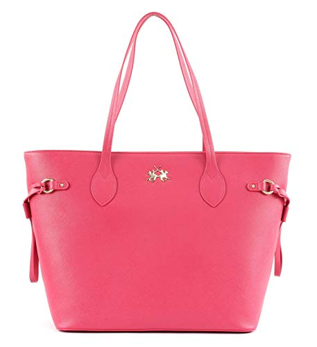 La Martina Valentina Shopper Bag Fuchsia Rose