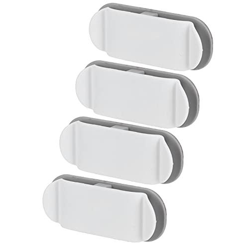 Clip de almacenamiento de cable, abrazadera de soporte de cable multifunción de longitud ajustable para cable de computadora para cocina
