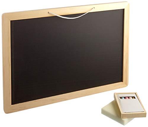 Small Foot 2021667 Foot 3497 Tafel Bunte Holz inkl. Kreide und Schwamm, für Schulkinder und Kinder ab 4 Jahren Spielzeug