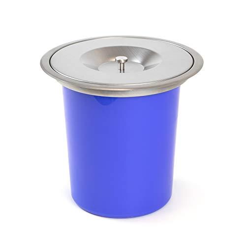 EMUCA - Cubo de Basura empotrable 6L, contenedor encimera con Tapa, Acero Inoxidable.
