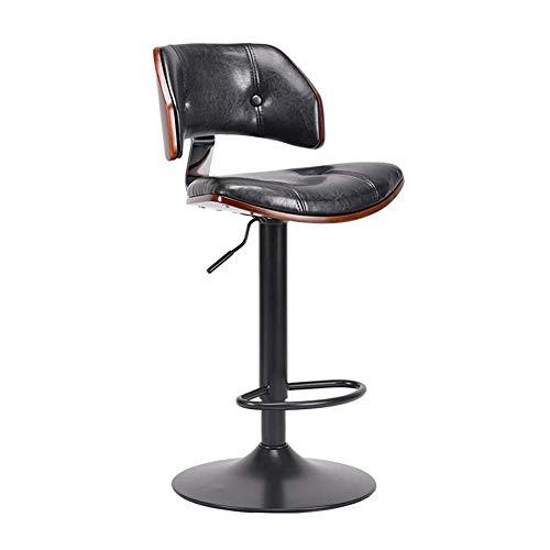 JIEER-C stoelen voor de vrije tijd, barkruk, gasdrukveer, duurzaam, voor bar, ontbijt, keuken, huis, van PU-kunststof, draaibaar, duurzaam T1