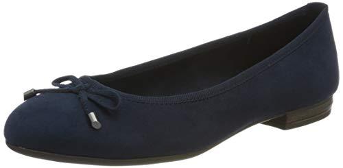 MARCO TOZZI Damen 2-2-22135-34 Geschlossene Ballerinas, Blau (Navy 805), 38 EU