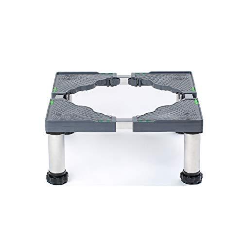 Waschmaschine Sockel MiSMiAO Untergestell Kühlschrank-Waschmaschinensockel 45-70cm verstellbare sockel für trockner Edelstahl-Kühlschrank-Waschmaschinen-Regalhalter 4 Fuß