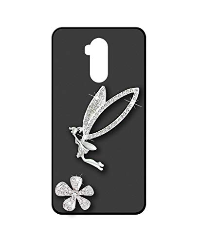 Sunrive Kompatibel mit Ulefone Power 3L Hülle Silikon,Glitzer Diamant Strass Handyhülle matt Schutzhülle Etui 3D Hülle Backcover (Elfen) MEHRWEG+Gratis Universal Eingabestift