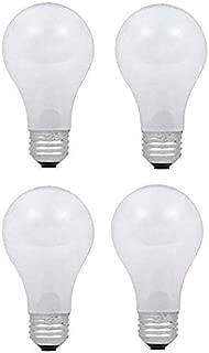 Dysmio Lighting 100 Watt A19 Rough Service Incandescent Light Bulb Pack of 4