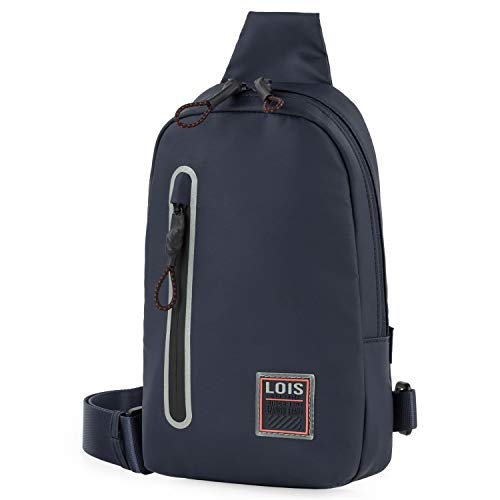 Lois - Casual Backpack Crossbag with Adjustable Strap. Front Pocket with Zipper. Waterproof. Coated Canvas. 309213, Color Navy