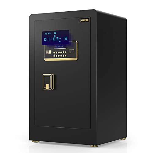 ADIMO Safe Box 60 - Safe Cabinet with Digital Keypad and Key Lock, 1.98 Cf Safe Lock Box, Built In...