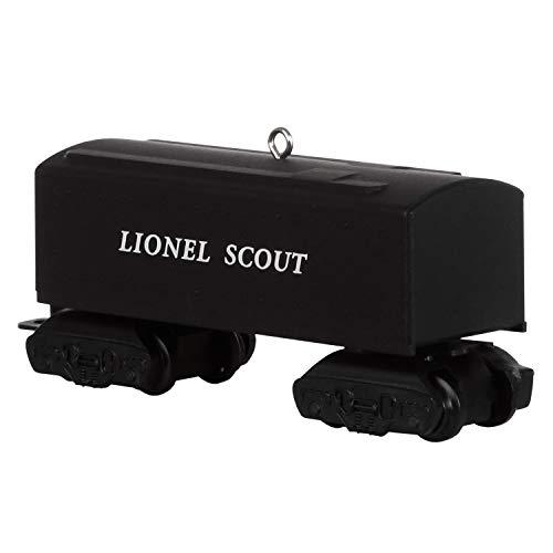 Hallmark Keepsake Christmas Ornament 2019 Year Dated Train 1001T, Metal, Lionel 101T Scout Tender