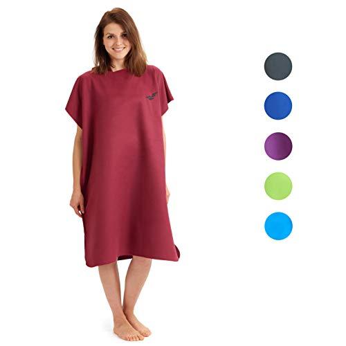 Fit-Flip Surf Poncho-Größe M-weinrot_ Handtuch Robe, Bade Poncho, Badeponcho, Surf Poncho Damen