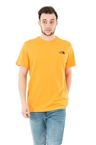 The North Face Men's S/S Simple Dome Tee T-Shirt, Orange, XL Uomo
