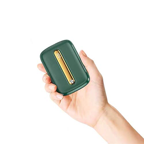 Pocket Power Bank 10000mah, Qc 3.0 Pd18w Fast Charge and Usb Portable Power Bank, External Fast Charger, Suitable for Smart Phones, Tablets and Other Devices (Color : Dark Green, Size : PD QC 3.0)