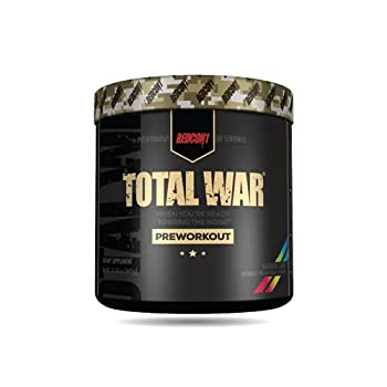 Redcon1 Total War - Pre Workout 30 Servings Boost Energy Increase Endurance and Focus Beta-Alanine 350mg Caffeine Citrulline Malate Nitric Oxide Booster - Keto Friendly  Rainbow Cnady
